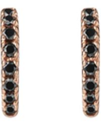 AUrate New York - Huggie Earrings With Black Diamonds - Lyst