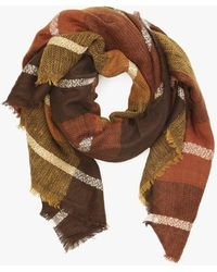 Azalea - Plaid Blanket Scarf - Lyst