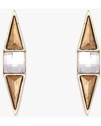 Nicole Romano - Tri & Square Stone Earring P - Lyst