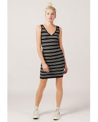 Azalea - Striped Bodycon Jumper Dress - Lyst