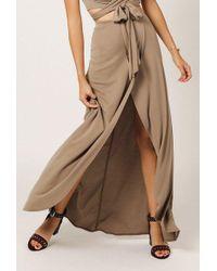 Azalea - Maxi Overlap Skirt - Lyst