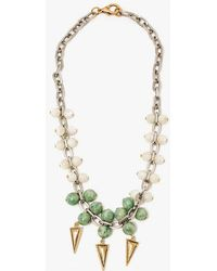 Nicole Romano - Jade Mother Of Pearl Necklace - Lyst