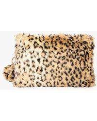 Azalea - Leopard Furry Clutch - Lyst