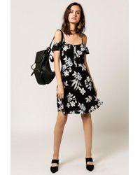 Azalea - Off Shoulder Mix Floral Dress - Lyst
