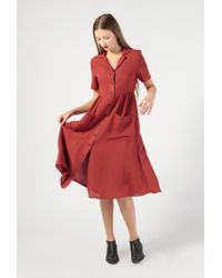 Azalea - Collared Ss Button Down Midi Dress - Lyst