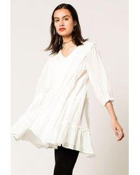 Azalea - 3/4 Sleeve Smock Dress - Lyst