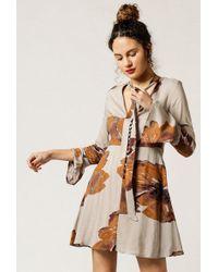 Azalea - Floral Print Flare Dress - Lyst