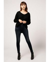 Azalea - V-neck Chunky Knit Sweater - Lyst