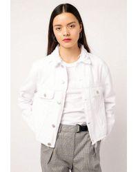 Azalea | Cropped Denim Jacket | Lyst