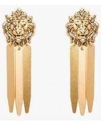 Nicole Romano - Lion Head Earrings - Lyst