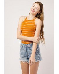 Azalea - Stripe Knit Halter Top - Lyst