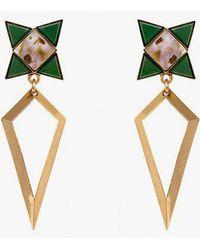 Nicole Romano - Spear Star Abalone Earrings - Lyst
