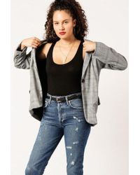 Azalea - Plaid Blazer With Pockets - Lyst