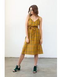 Azalea - Strap Plaid Midi Dress - Lyst