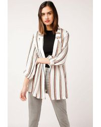 Azalea - Striped Loose Blazer - Lyst