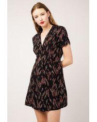 Azalea - Mini V Neck Collared Dress - Lyst