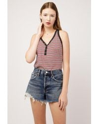 Azalea - Stripe Knit Tank Top - Lyst