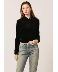 Azalea - Velour Cropped Sweater - Lyst