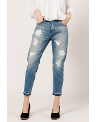 Frankie | Embroidered Boyfriend Jeans | Lyst