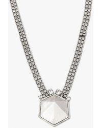 Nicole Romano - Geo Rock Crystal Band Necklace - Lyst