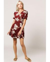 Azalea - Floral Ruffle Wrap Dress - Lyst