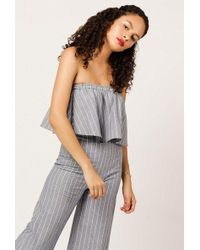 Azalea - Stripe Tube Top - Lyst
