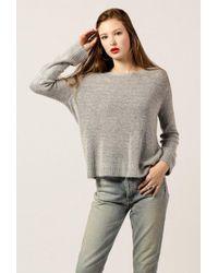Azalea - Fuzzy Roundneck Sweater - Lyst