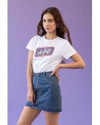 Azalea - Zip Front Vintage Wash Skirt - Lyst