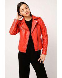 Doma Leather - Basic Biker Jacket - Lyst