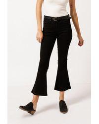 Frankie - Overdye Crop Flare Jeans - Lyst