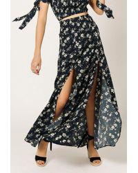 Azalea - Floral Ruched Skirt - Lyst