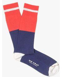 Mr Gray - Tipped Stripe Sock - Lyst