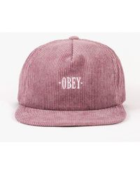 Obey - Posted Snapback Hat - Lyst