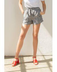 Azalea - Plaid High Waist Tie Shorts - Lyst