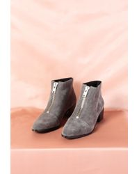 Grey City - Winona Zip Bootie - Lyst