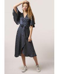 Azalea - Polka Dot Wrap Maxi Dress - Lyst
