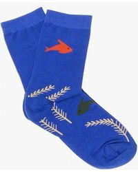 Hansel From Basel - Under The Sea Crew Sock - Lyst