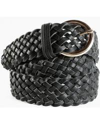 Azalea - Black Braid Belt - Lyst