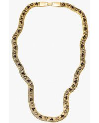 Nicole Romano - Snake Chain W/ Triangle Necklace - Lyst