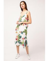 Azalea - Tropical Strappy Midi Dress - Lyst
