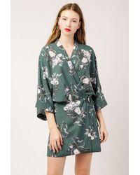 Azalea - Ss Floral Wrap Kimono Dress - Lyst