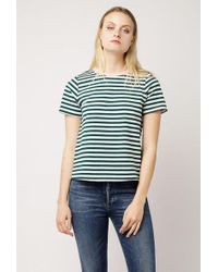 Azalea - Stripe Contrast Collar Top - Lyst