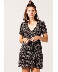 Azalea | V-neck Floral Knot Dress | Lyst