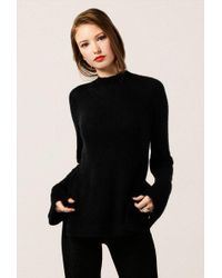 Azalea - Fuzzy Mock Neck Long Sleeve Sweater - Lyst