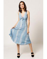 Azalea - Sleeveless Tie Midi Dress - Lyst