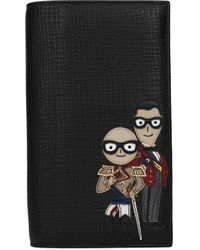 Dolce & Gabbana - Wallets Patch D&g Family Men Black - Lyst