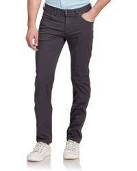 Armani Cotton Five-Pocket Pants - Lyst