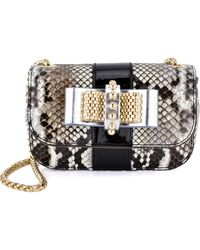 Christian Louboutin Python Sweet Charity Crossbody - Lyst