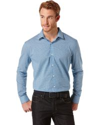 Perry Ellis Classic Fit Mini Geo Print Sport Shirt - Lyst