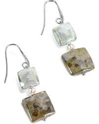 Antica Murrina - Atelier Byzantium - Grey Murano Glass & Silver Leaf Dangling Earrings - Lyst